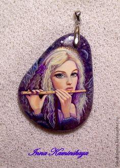 Купить Коллекция Феечки - фиолетовый, фея, музыка, мелодия, волшебство, волшебница, лаковая миниатюра, фентези