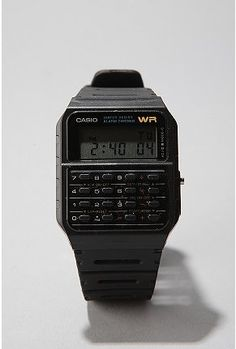 I have this watch right now sitting in George's night stand.  He LOVED Casio.  He always carried it when we travelled even if he was wearing his gold nugget.  He loved the calcultor, and the calendar and this was pre-cell phone mind you so he loved the phone numbers.  This is SO cool.  Reminds me of my Georgie.