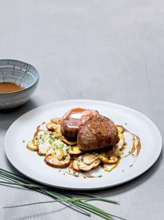 A delicious beef fillet and wild mushroom recipe incorporating the latest foraging trends Wild Mushrooms, Stuffed Mushrooms, Beef Fillet, Food Film, Mushroom Recipe, Mushroom House, French Cafe, Food Painting, Food Illustrations