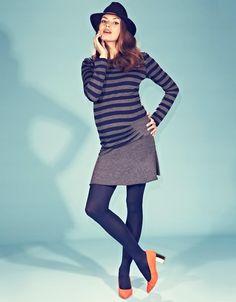 Short Gray Maternity Skirt | Seraphine Maternity