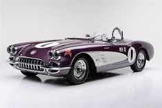 For sale at auction: One of the most renowned racing Corvettes in history, this Purple People Eater MKIII Corvette secured the 1959 SCCA National Championship in the B/Production...