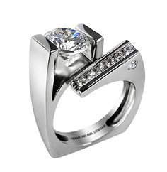 Frank Reubel diamond engagement ring
