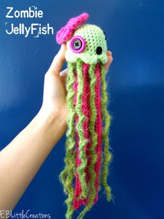 Crocheted Zombie Baby JellyFish Plush by EBLittleCreations on Etsy, $15.00