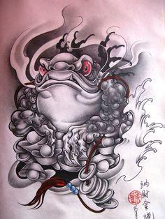 Japanese Frog Tattoo Designs