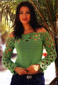 Crochet Sobresaliente: Acento en los hombros.