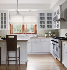 Our kitchen will be shaped like this! With a fridge and pantry on the left side.