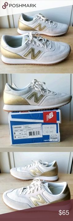 new product ac28a 053ff New Balance J.Crew 620 Gold Salt Cream Sneakers 8 New Balance For J.