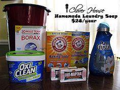 Hometalk | Homemade Laundry Soap - $28 per year
