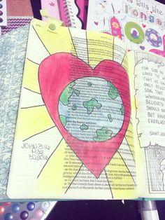 Juan 3:16 ❤️ Bible journaling Yanairis Gutierrez