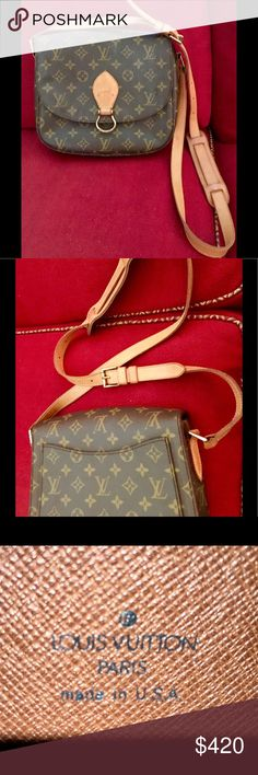 """Authentic Louis Vuitton shoulder bag. #SO1904. Authentic Louis Vuitton shoulder purse, approx. 9""""X9""""x3"""".  Very good condition, both inside and outside.  Shows very little wear. Adjustable leather Strap in great condition. Made in USA. No tears, rips or stains. Purchased new approximately 20 years ago. ID#SO1904. Louis Vuitton Bags Shoulder Bags"""