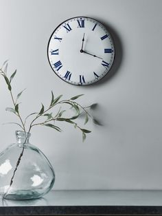 Made from iron with an enamel finish, our French style clock has a simple, round face with soft blue Roman numerals, black hands and a rustic darker edge. The perfect clock for a country kitchen or dining room. Kitchen Clocks, Kitchen Decor, Clock Decor, Kitchen On A Budget, Beautiful Kitchens, French Style, Country Kitchen, Home Accessories, Enamel