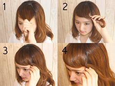 忙しい朝におススメ!1分で簡単にできる可愛い前髪アレンジ  | AUTHORs