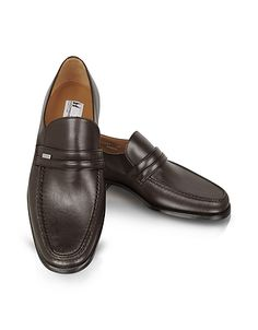 Monaco Wide Brown Leather Loafers #DesignerHandbags #DesignerShoes