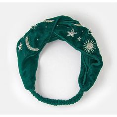Green Velvet Head Band ($33) ❤ liked on Polyvore featuring accessories, hair accessories, head wrap turban, velvet hairband, velvet headband, beaded headbands and beaded hair accessories