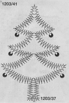 Resultado de imagen para free bobbin lace patterns for beginners Lace Christmas Tree, Christmas Images, Types Of Lace, Bobbin Lace Patterns, Lacemaking, Lace Heart, Parchment Craft, Paper Embroidery, Point Lace