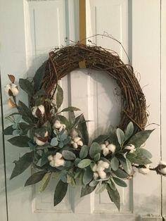 This item is unavailable - Wreath Ideen 2020 Fall Wreaths, Christmas Wreaths, Indoor Wreath, Cotton Wreath, Year Round Wreath, Grapevine Wreath, Wreath Burlap, Monogram Wreath, Diy Décoration