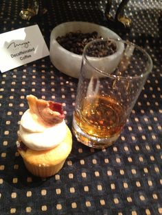 Maple Bacon Cupcake and whiskey!!!