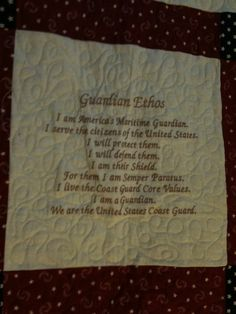Tina Lueders uploaded this image to 'Coast Guard Quilt'.  See the album on Photobucket.