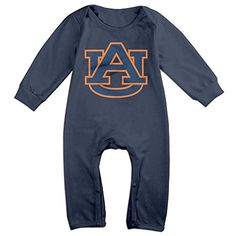 PCY Newborn Babys Boys  Girls Auburn University AU Logo Long Sleeve Bodysuit Baby Onesie For 624 Months Navy Size 24 Months * Check out this great product.