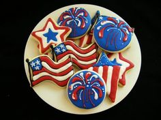 Flags & Fire works Cookies