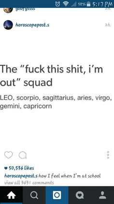 Fuck this shit Squad...Zodiac