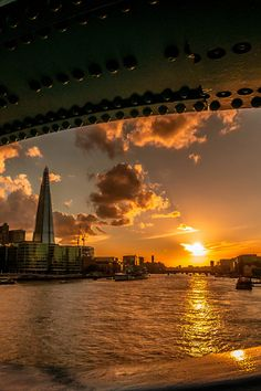 Thames River Sunset, London, England
