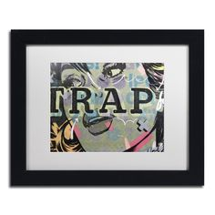 Dan Monteavaro 'Trap' White Matte, Framed Wall Art