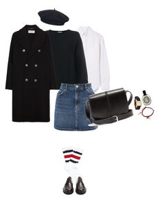 """Untitled #5114"" by memoiree ❤ liked on Polyvore featuring Thom Browne, Helmut Lang, Topshop, Yves Saint Laurent, Gucci, A.P.C., Hermès, Diptyque, Marc Jacobs and Element"