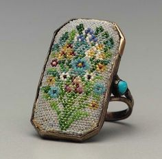 beaded french ring