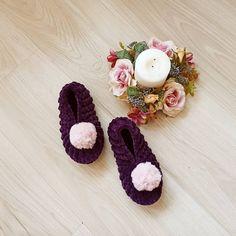 """Grils slippers, house slippers, Christmas For Slipper, Knitted and Crochet slippers"""