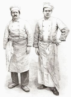 "Greetings Card-Two 19Th Century Chefs. From L'illustration Published 1897-6""x8"" inch Greetings Card made in the UK"
