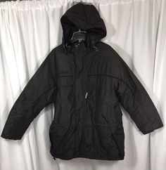 Columbia Sportswear Insulated Hooded Brown Quilt Lined Winter Snow Jacket 2XL #Columbia #Parka
