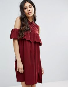 Buy it now. Ax Paris Cold Shoulder Frill Mini Smock Dress - Red. Dress by AX Paris, Woven fabric, Spread collar, Cold shoulder cut, Concealed placket, Frill panel, Relaxed fit, Machine wash, 100% Polyester, Our model wears a UK 8/EU 36/US 4 and is 170cm/5'7 tall. , vestidoinformal, casual, camiseta, playeros, informales, túnica, estilocamiseta, camisola, vestidodealgodón, vestidosdealgodón, verano, informal, playa, playero, capa, capas, vestidobabydoll, camisole, túnica, shift, pleat, ple...