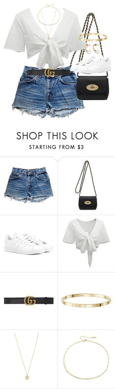 """Untitled #2684"" by hiitsbre ❤ liked on Polyvore featuring Levi's, Mulberry, adidas Originals, Gucci, Forever 21, Cloverpost and Chloé"