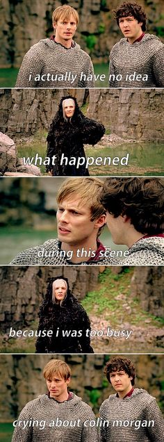 TRUTH. I still don't know because every time I go back to watch it, I can't stop laughing