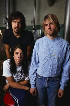 June 13th, 1991. Nirvana performs at the Warfield Theatre in San Francisco, California. Before the show, the band has a photo-shoot with Joe Giron.