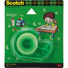 Scotch Magic Tapes Dispenser — The original matte-finish, invisible tape dispenser. Gives wrinkle free packing avoids accident and misuse of tapes.