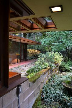 Brandes home. Sammamish, Washington. 1952. Usonian Style. Frank Lloyd Wright
