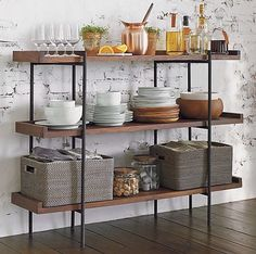 Kitchen shelves for added storage