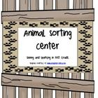 This center is perfect for your little friends to practice the skill of categorizing and classifying!  Students will sort 12 animals based on their...