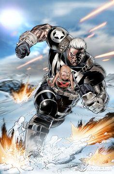 X-Men Messiah Complex #1 - Cable by Scot Eaton *