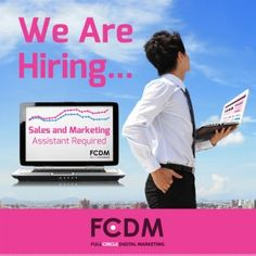 Sales & Digital Marketing Executive Required. FCDM are looking for a passionate and dedicated Sales & Digital Marketing Executive to join our team!