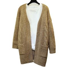 2016 New Hot Winter Fashion Women Sweater Korean Version Solid Color Pocket Loose Sweater Women Long Sweater Cardigan Sweater