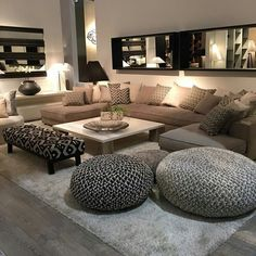 Discover the best luxury home decor inspiration selected for your next interior . - Discover the best luxury home decor inspiration selected for your next interior design project here - Small Living Rooms, Home And Living, Living Roon, Living Room Seating, Spacious Living Room, Living Room Goals, Living Room Brown, Luxury Living Rooms, Narrow Family Room