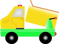 Toy Truck Clip Art | Cartoon Dump Truck Clip Art