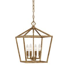 Kids bath: Shop Millennium Lighting 12-in Vintage Gold Vintage Single Cage Pendant at Lowes.com