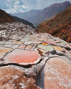 Salineras de Maras, Cuzco, Peru - These strange pools are salt mines that have been in use for over 600 years, located near the charming mountain town of Maras. Oh The Places You'll Go, Places To Travel, Places To Visit, Machu Picchu, Les Continents, Peru Travel, Travel City, Wanderlust Travel, Destination Voyage