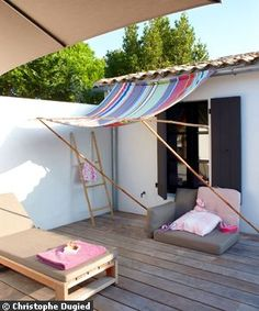 See this simple design for an awning?? I have told my husband for 3 years i'm going to do this.  This year, I AM!