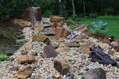 Water feature creation. Step 4 - add finishing stone/gravel, plant, enjoy. Andrew Williams - Williams Studio