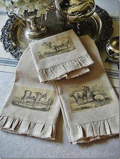 DIY ::Vintage French Tea Towels